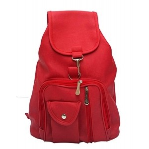 Vintage Stylish Red Ladies Expandable Backpacks Bags