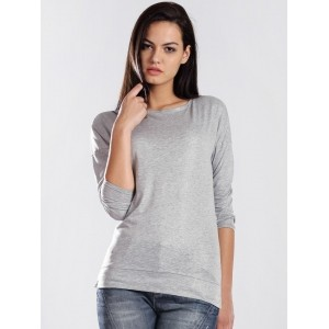 GAS Grey Cotton Solid T-shirt