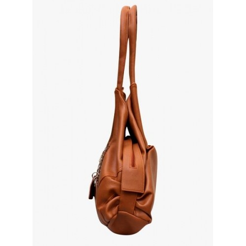 Fostelo Brown Synthetic Solid Shoulder Bag