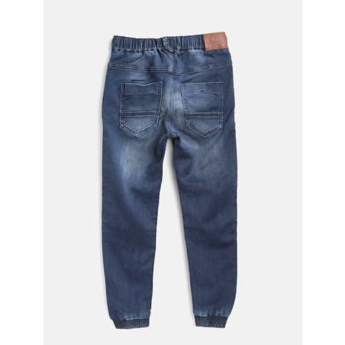 United Colors of Benetton Boys Navy Regular Fit Solid Joggers