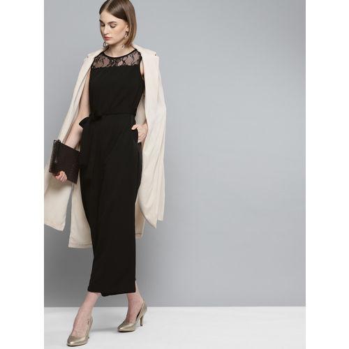 Marie Claire Black Solid Basic Jumpsuit