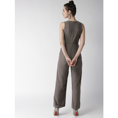 QUIERO Grey Solid Basic Jumpsuit