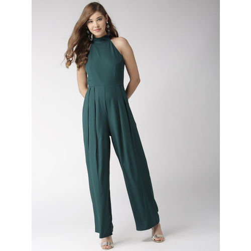 20Dresses Women Teal Green Solid Basic Jumpsuit