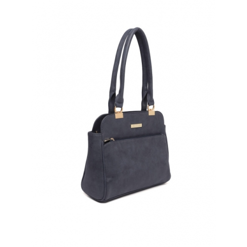 DressBerry Navy Blue Solid Shoulder Bag