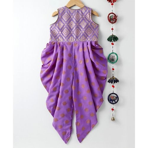 Twisha Design Printed Sleeveless Jumpsuit - Purple