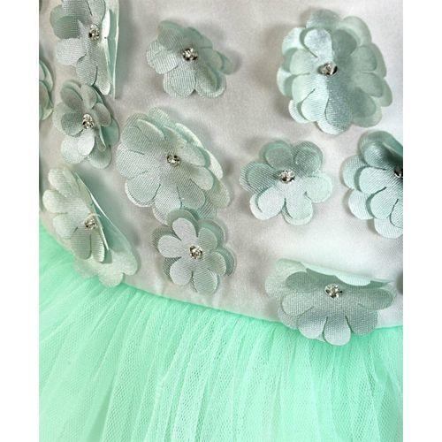 Mark & Mia Sleeveless Frock Floral Applique - Green