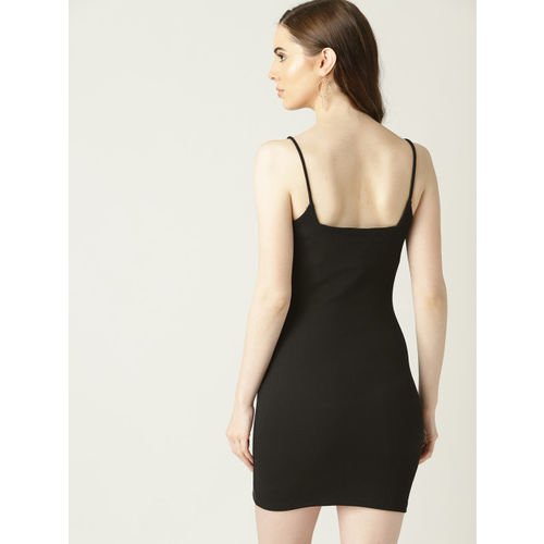 MANGO Women Black Solid Bodycon Dress