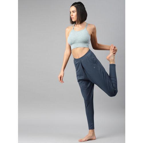 HRX by Hrithik Roshan Women Navy Solid Regular Fit Yoga Track Pants