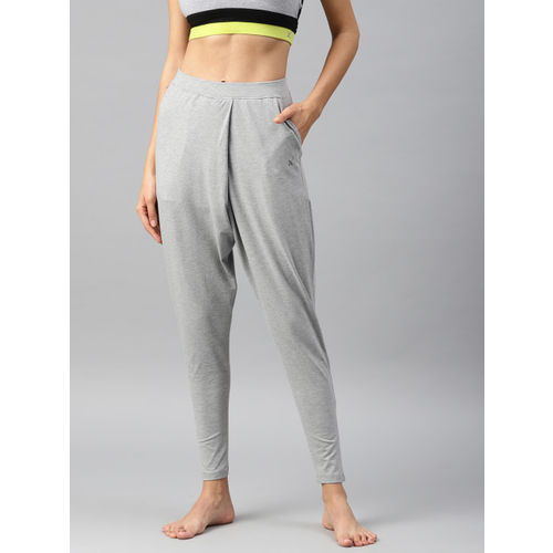 HRX by Hrithik Roshan Grey Melange Solid Yoga Track Pants