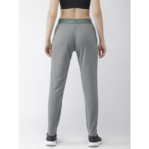 Nike Women Grey Solid DRY-FIT TAPERED NFS Track Pants