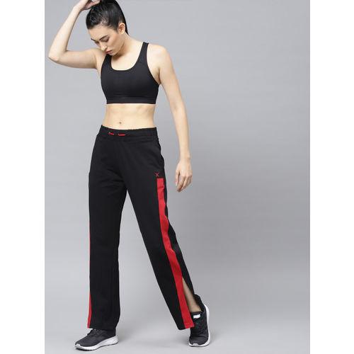 HRX by Hrithik Roshan Women Black Solid Side Slit Lifestyle Track Pants