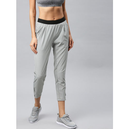 HRX by Hrithik Roshan Women Grey Slim fit Woven Running Rapid Dry Track Pants