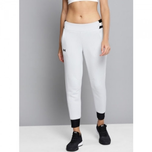 UNDER ARMOUR Women White & Black Printed Move Cropped Joggers