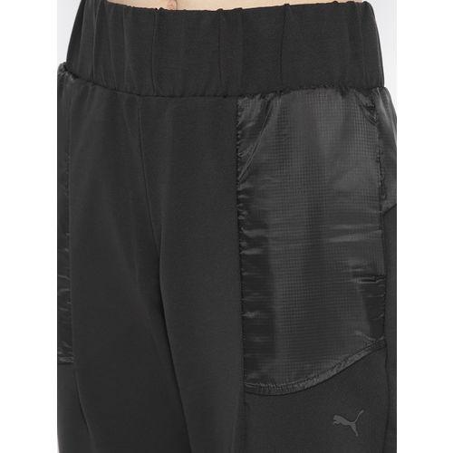 Puma Women Black Solid 3/4th Ferrari Sweat Pants