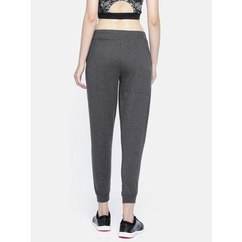 Kappa Women Charcoal Grey Solid Comfort Fit Joggers