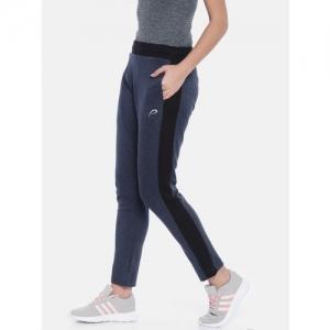 Proline Active Women Navy Blue Solid Classic Fit Track Pants