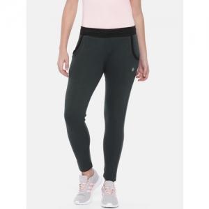 Proline Active Women Charcoal Grey Slim Fit Solid Track Pants