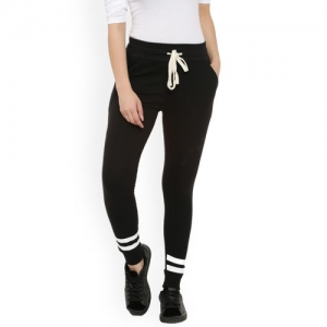 Campus Sutra Women Black Solid Joggers