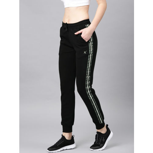HRX by Hrithik Roshan Women Black Slim Fit Swedish Pop Sports Joggers