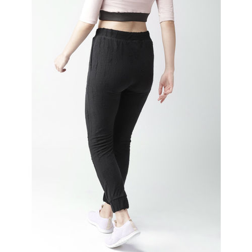 Harvard Women Black Solid Joggers