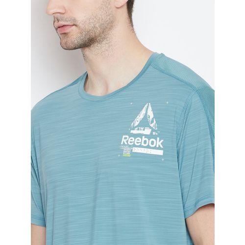 Reebok Men Blue Solid Activchill Graphic Training T-shirt