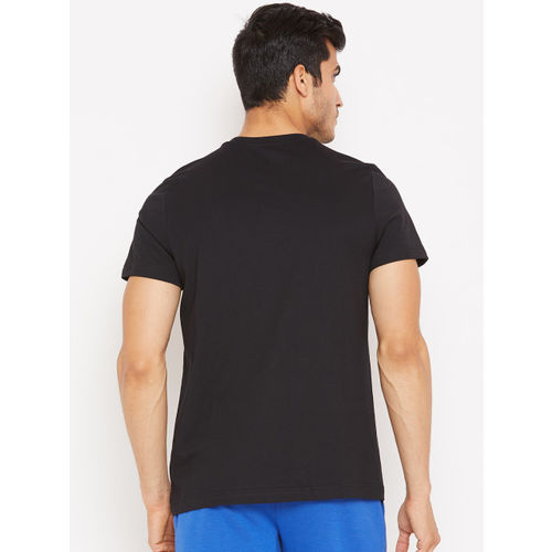 Reebok Men Black Solid Training Essentials Classic Round Neck T-shirt