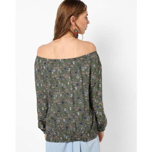 DNMX Floral Print Off-Shoulder Top