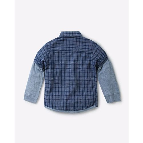 UFO Checked Shirt with Doctor Sleeves