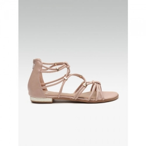 Carlton London Pink Solid Open Toe Flats
