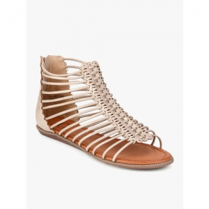 Carlton London Gold Synthetic Sandals