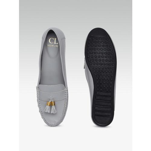 Carlton London Women Grey Solid Loafers