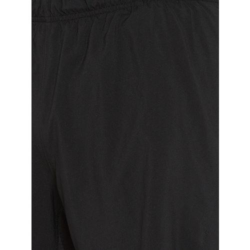 Reebok Men Black Solid Running 7 inch Split Shorts