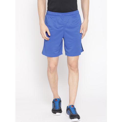 Reebok Men Blue Solid Training Foundation Knit Shorts
