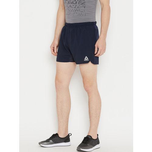 Reebok Men Navy RE 5 Inch Running Shorts