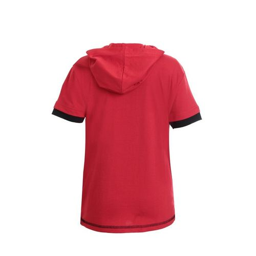 UFO Kids Red Printed Hooded T-Shirt
