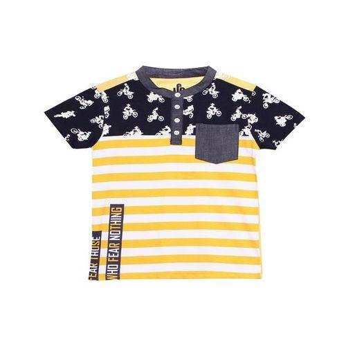 UFO Kids Yellow Striped T-Shirt