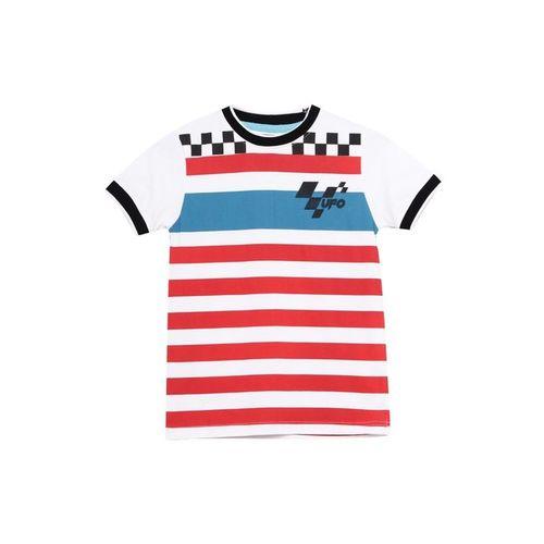 UFO Kids White & Red Striped T-Shirt