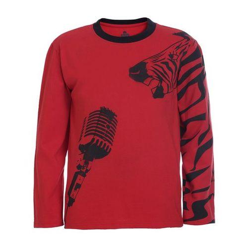 UFO Kids Red Printed T-Shirt