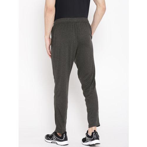 Reebok Men Charcoal Grey Solid Crossfit Speedwick Training Track Pants