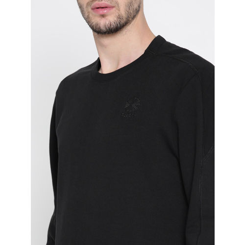 Reebok Classic Men Black F Franchise FT Crew Solid Sweatshirt