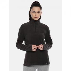 Reebok Black OD FLC Q ZIP Sweatshirt