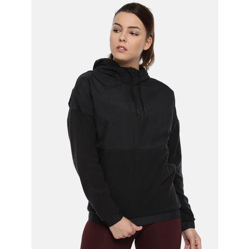 Reebok Black EE MICROFLEECE WVN HOODIE Sweatshirt