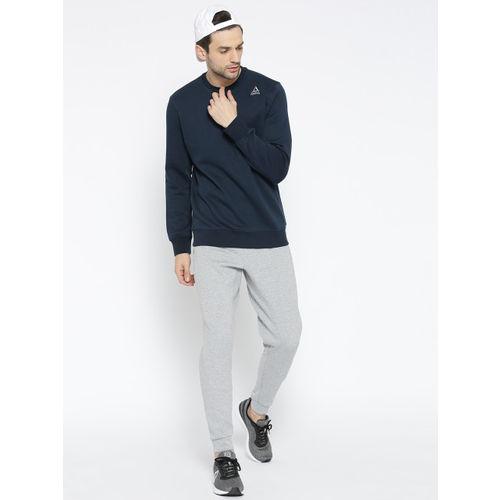 Reebok Men Navy Blue FON BAS Solid Sweatshirt