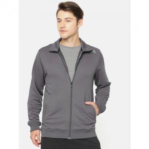 Reebok Men Grey Solid CORE Training Sweatshirts