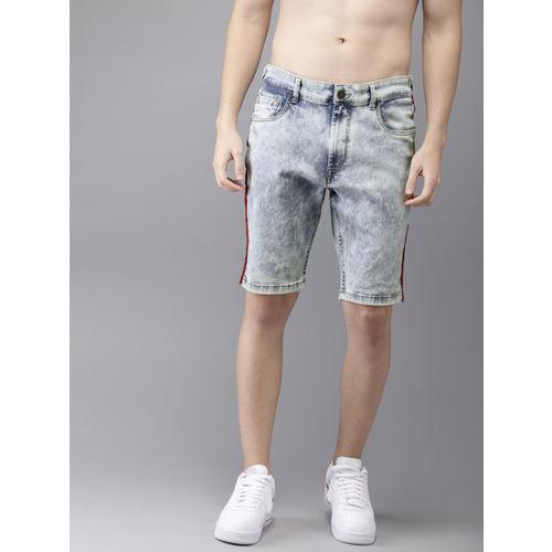 Moda Rapido Men Blue Washed Regular Fit Denim Shorts