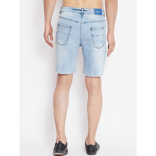 FUGAZEE Men Blue Washed Slim Fit Denim Shorts