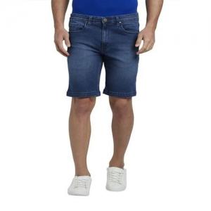 Parx Dark Blue Cotton Shorts