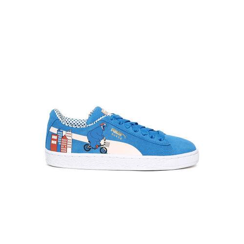 Puma Kids Blue Sesame Street 50 Suede Sneakers