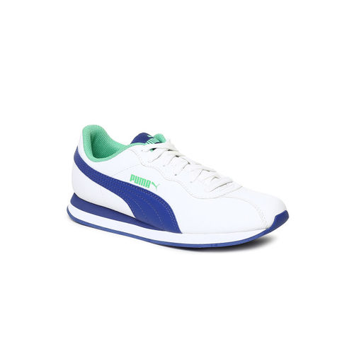 Puma Kids White Turin II Jr Sneakers