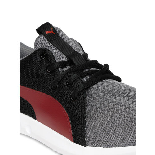 Puma Unisex Grey Carson 2 JR IDP QUIET SHADE-Flame Scarle Sneakers